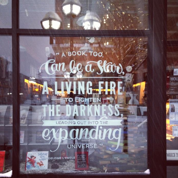 Madeleine L'Engle quote window painting |Ann Arbor, Michigan| jessicamakolin.wordpress.com